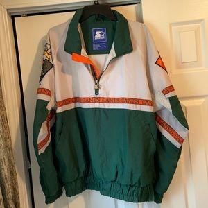 Men's Vintage Hurricanes NCAA Starter Pullover